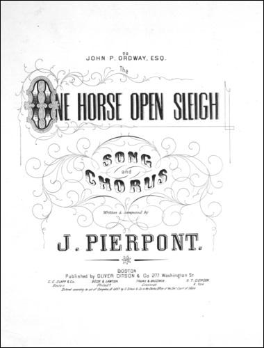 One Horse Open Sleigh Original Forside