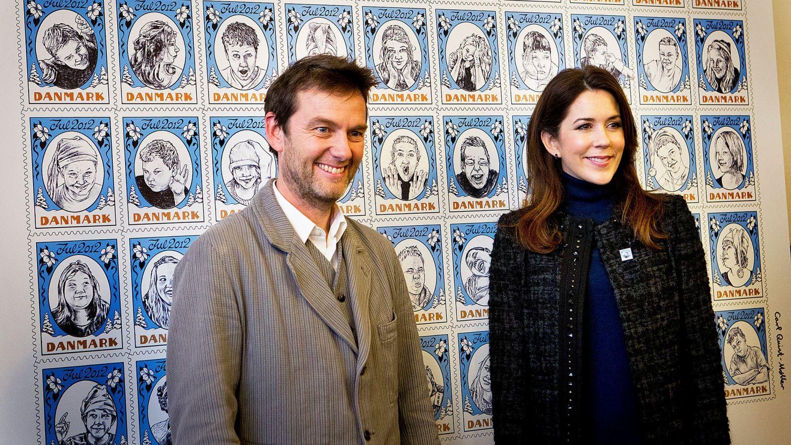 Julemaerket 2012 Carl Quist-Moeller og Kronprinsesse Mary
