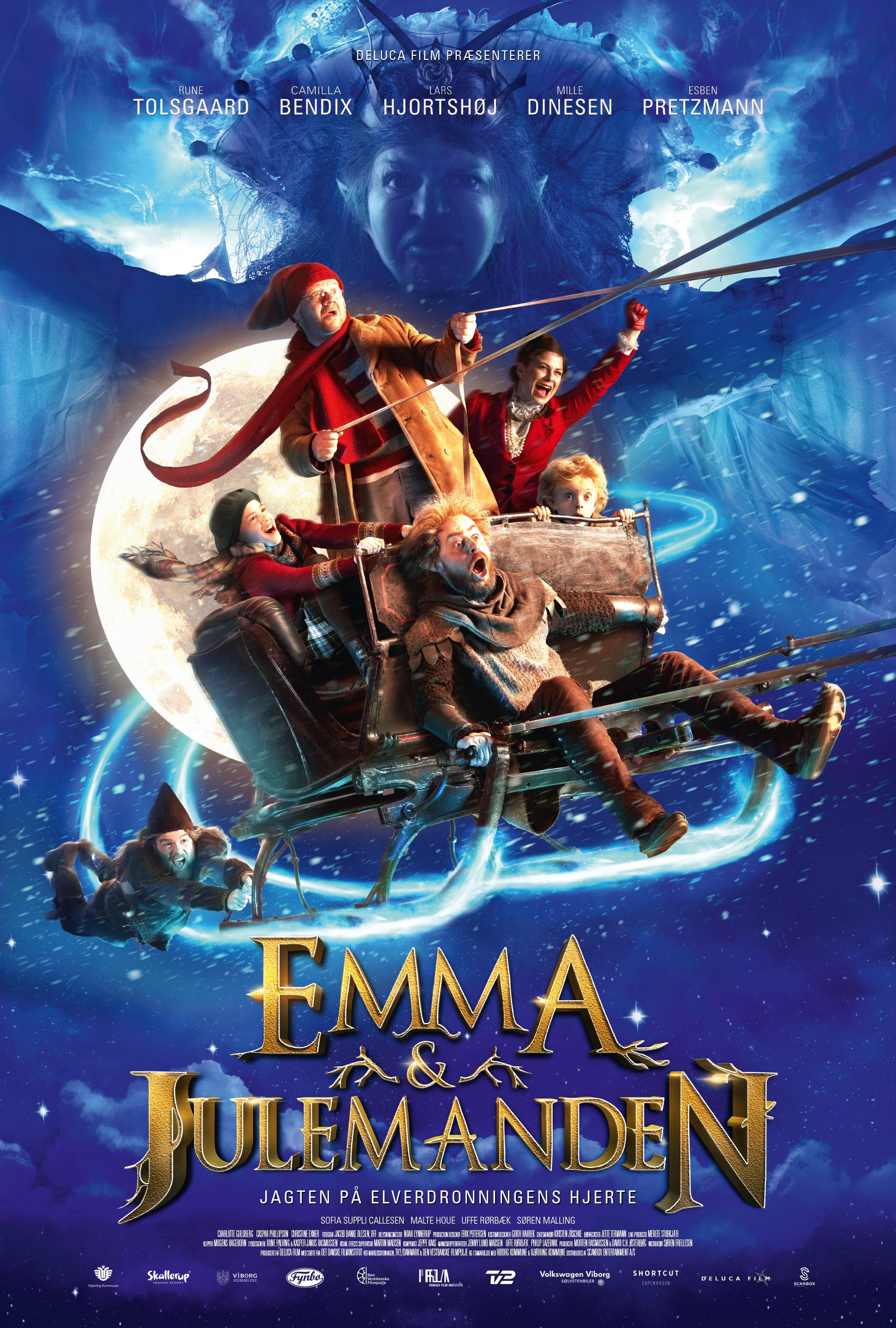 Emma og Julemanden Plakat