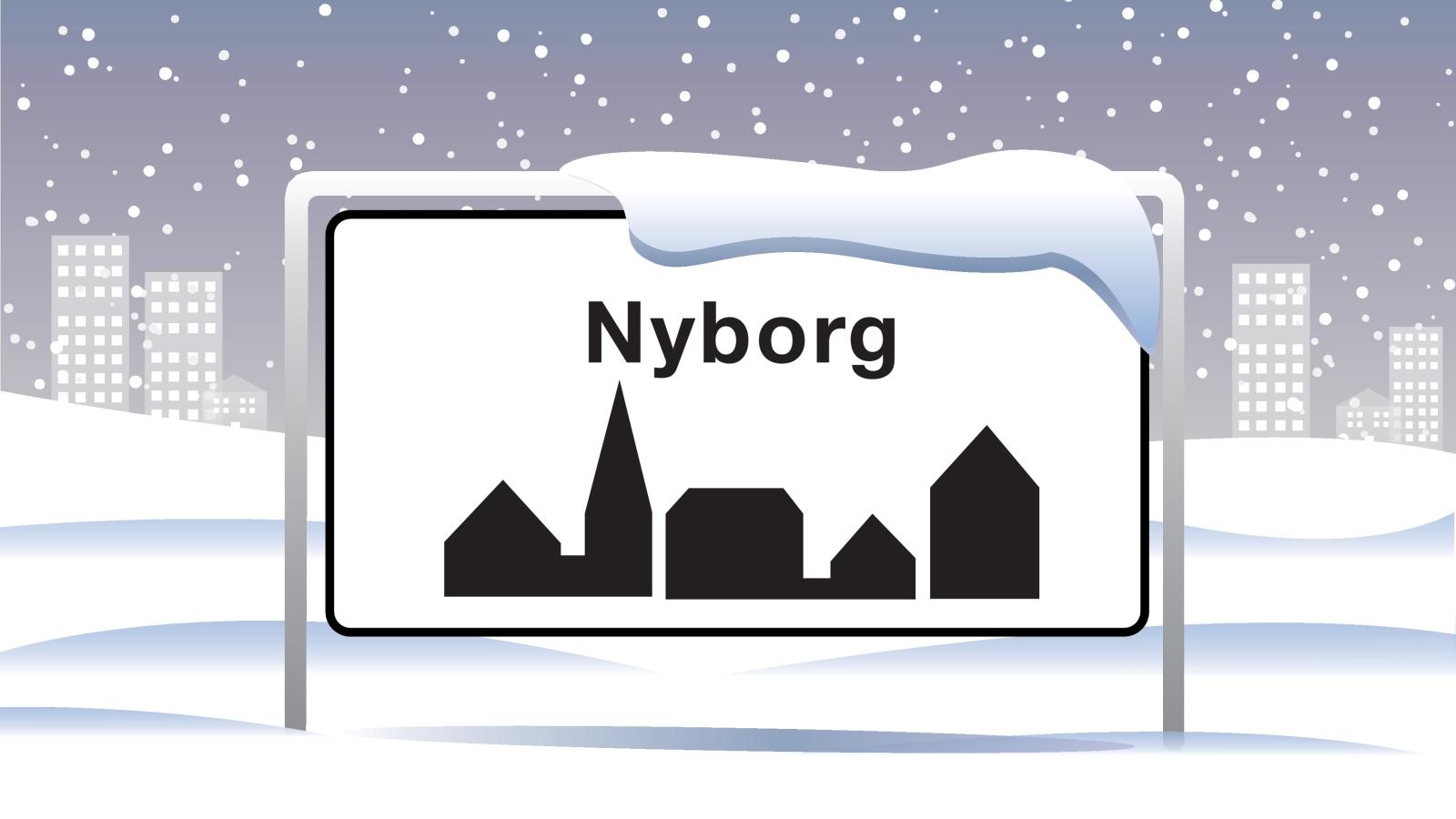 Nyborg Byskilt